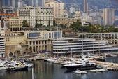 Bay of Monaco and view over Monte Carlo — Foto de Stock