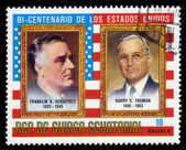 Presidents F. D. Roosevelt and H. Truman — 图库照片