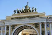 łuk triumfalny sztabu generalnego w sankt petersburg, federacja rosyjska — Zdjęcie stockowe
