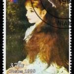 Постер, плакат: Painting by Pierre Auguste Renoir portrait Irene Cahen dAnvers
