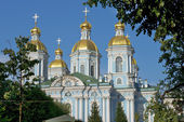 St. Nicholas Naval Cathedral, Saint Petersburg, Russia — Stockfoto