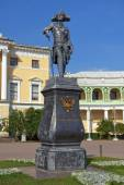 Monument to Paul I, Pavlovsk Palace, Saint Petersburg — Stock fotografie