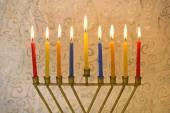 Hanukkah menorah — Stock Photo