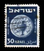 Jewish coin, time of the War of Bar Kochba — Stock Photo