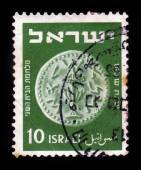 Jewish coin, time of the War of the Second Temple — Stockfoto