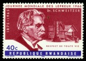 Doctor Albert Schweitzer, german theologian, Nobel Peace Prize — Stock Photo