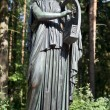 Постер, плакат: Bronze sculpture Erato muse of lyric poetry Pavlovsk Park