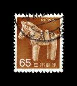 Ancient clay horse - Haniwa — Stock Photo