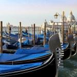 Traditional Venetian gondolas in Venice, Italy — Stock Photo #59226765