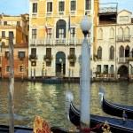 Symbol of the Venice - Venetian gondolas — Stock Photo #59226785