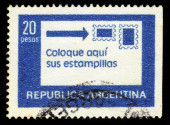 Correct positioning of stamps — Stockfoto