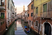 Typical urban landscape of old Venice — Stock Photo
