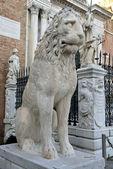 Lion Sculpture at the Venetian Arsenal, Venice — Stock Photo