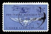 Första planet av Naval Aviation, Curtiss A-1 — Stockfoto