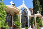 Courtyard in the orthodox church of the first miracle, Kafr Kanna, Israel — Stock Photo