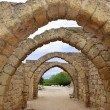 Remains of the archs in ancient city of Caesarea, Israel — 图库照片 #70604887