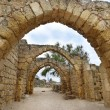 Remains of the archs in ancient city of Caesarea, Israel — Stockfoto #70604917