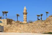 Minaret of Caesarea Maritima in ancient city of Caesarea, Israel — Stock Photo