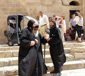 Coptic Bishop visits the Holy Sepulcher in Jerusalem — Stock Photo