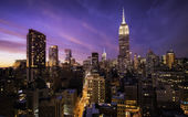 Manhattan skyline at sunset, New York — Stock Photo