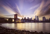 Brooklyn bridge sunset — Foto Stock