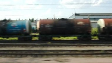 Passing By Industrial Facility — Vídeo Stock