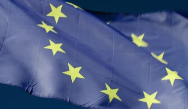 Fluttering Flag Of European Union — Wideo stockowe