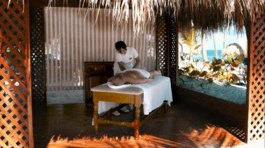 Spa treatment massage — Stock Video