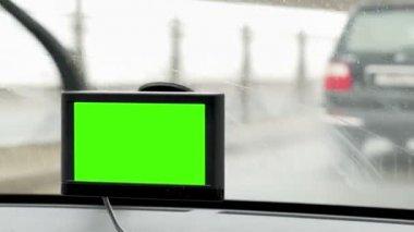 Dispositivo de Gps faz dirigindo na cidade fácil — Vídeo stock