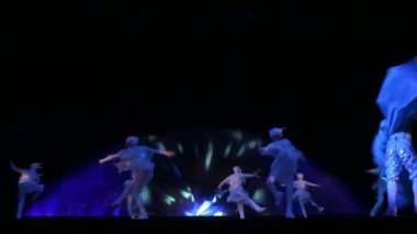 Theatrical performance on the ice — Stock Video