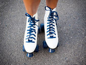 Sporting rollers skating — Stock Photo