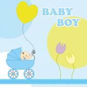 Baby boy geburtstagskarte — Stockvektor