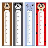 Bumper children meter wall — Stock Vector