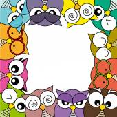 Owls cads — Stock Vector
