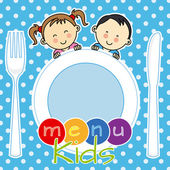 Menu kids — Stock Vector