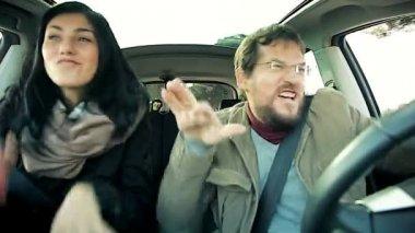 Beautiful people shouting — Vidéo