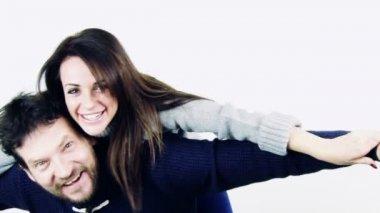 Happy couple in love — Stock Video