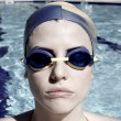 Portrait of gorgeous female swimmer ready for olimpic gamesF — Stock Photo #71451291
