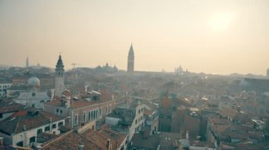 Aerial footage from sky in Venice — Stock Video