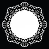 Round lace pattern. Mandala. Vector illustration. — Stock Vector