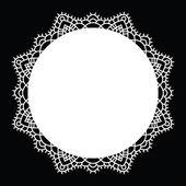 Crochet lace mandala. — Stock Vector