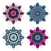 Mandala set. — Stock Vector