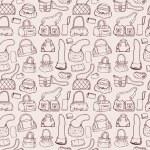 Women handbags. Seamless pattern. — Stock Vector #52724175