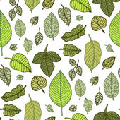 Leaves. Seamless vector background. — Stock Vector