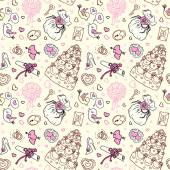 Seamless wedding patterns. — Stockvektor