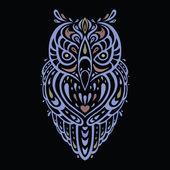 Decorative Owl. Ethnic pattern. — Stock Vector