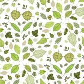 Blätter. nahtloser vektor hintergrund. — Stockvektor
