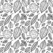 Leaves. Seamless vector background. — ストックベクタ