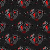Geometric 3d Broken heart. — Stock Vector