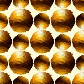 Disco ball. Gold seamless background. — Stock Vector